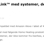 Danfoss Link, Alexa og Google Home